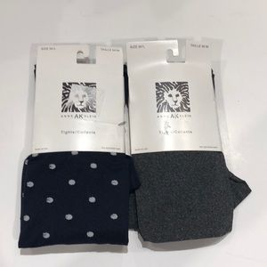 Anne Klein M/L tights pack of 2 polka dot and gray